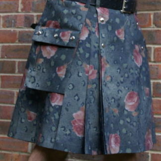 Rose Denim Kilt