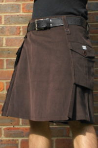 Brown Corduroy Kilt