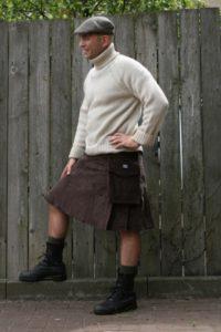 Brown Corduroy Kilt