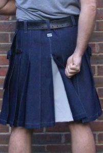 Denim kilt
