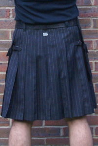Grey chalk / pin stripe kilt