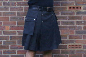 Grey suiting kilt with Dashing Tweed