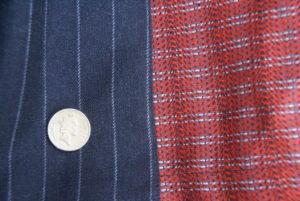 Grey chalk / pin stripe and Dashing Tweed