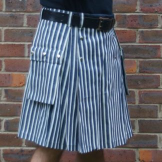 Stripey Denim Kilt