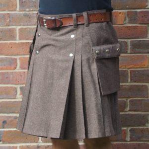 Brown Wool Mix with Dashing Tweed Kilt