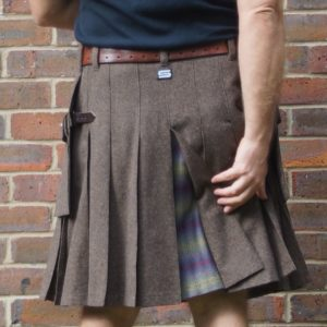 Brown Wool Mix with Dashing Tweed Kilt