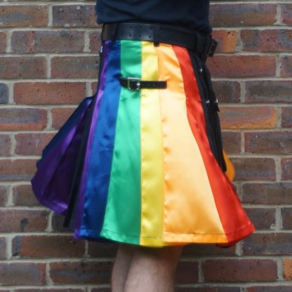 LGB gay pride rainbow kilt