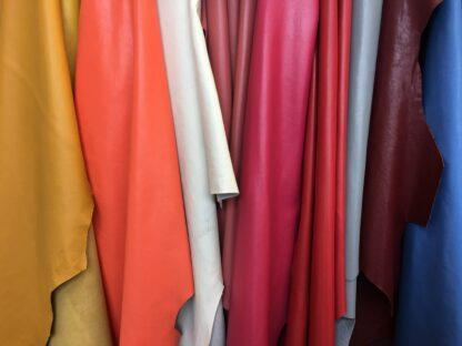 Coloured nappa leather