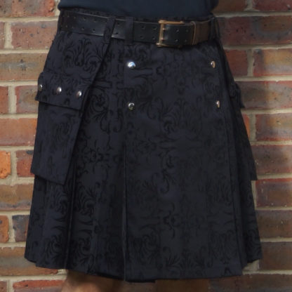 Black flock kilt