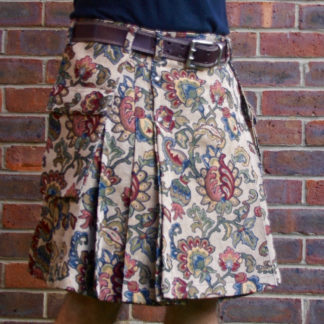 Abstract Flower Tapestry Kilt