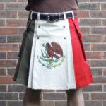 Mexican flag kilt