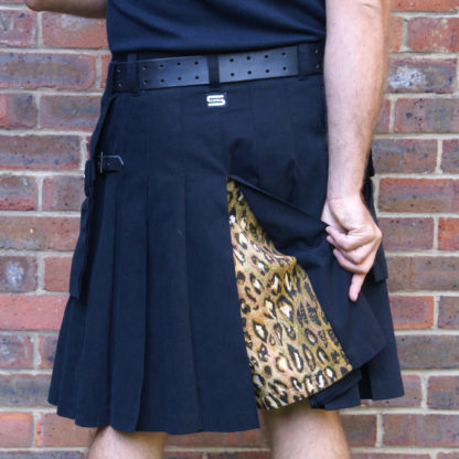 Black and leopard kilt