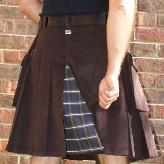 Brown Corduroy with Dashing Tweed Kilt