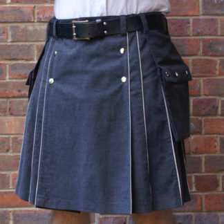 Grey washable melton reflective kilt