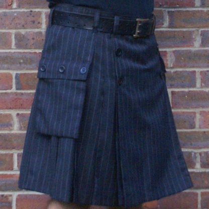 Grey pin stripe kilt